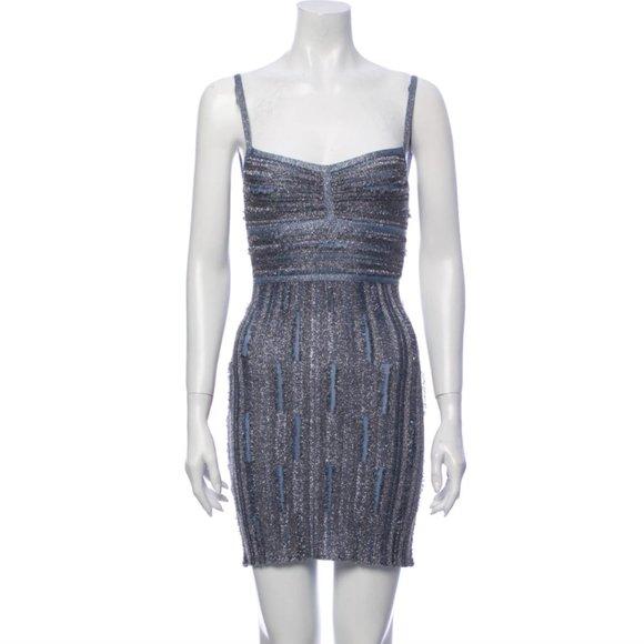 HERVE LEGER Patterned Mini Dress